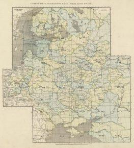 Сборный лист Специальной карты Западной России Шуберта