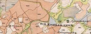 2-х верстка Менде 1850-х гг. Рязанская губерния.