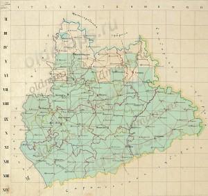 Карты Менде Пензенскойя губернии