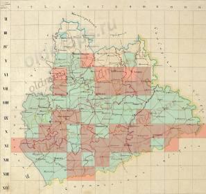 Карты А.И МендеПензенской губернии<